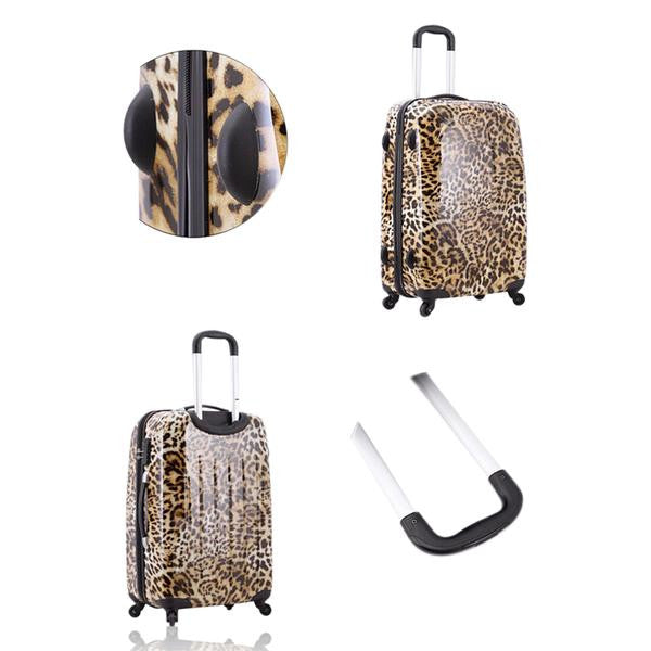 Imogen - Leopard Printed Travel Suitcases On Wheels - LA MIA CARA JEWELRY - 4