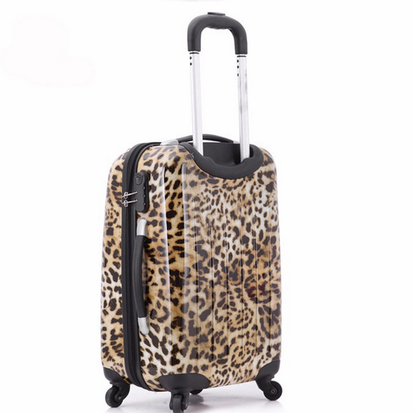 Imogen - Leopard Printed Travel Suitcases On Wheels - LA MIA CARA JEWELRY - 6
