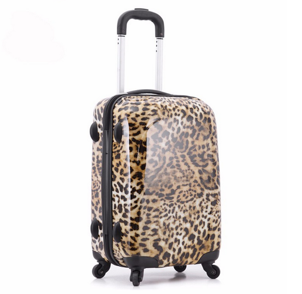 Imogen - Leopard Printed Travel Suitcases On Wheels - LA MIA CARA JEWELRY - 7