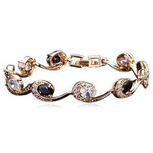 La Mia Cara Jewelry - Black Lambrini - Gold CZ Diamond Bracelet