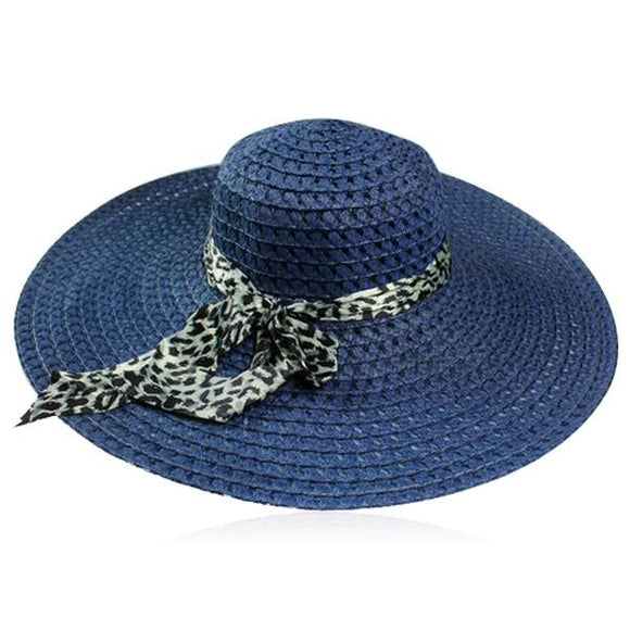 Leopardo Cappelli Estate- 6 Candy Color Sun Straw Hat with Leopard Ribbon - LA MIA CARA JEWELRY - 5