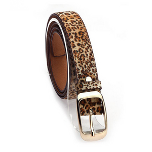 La Mia Cara Jewelry - Cintura Di Pelle Leopardo - Leather Belt Woman