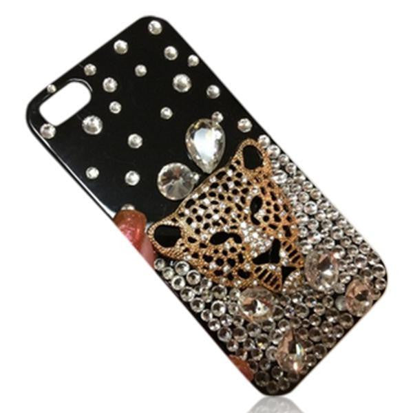Leopardo Momenti Frizzanti- Bling Crystal Diamonds Phone Case - LA MIA CARA JEWELRY