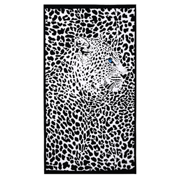Leopardo Telo Mare - Large Beach Towel - LA MIA CARA JEWELRY