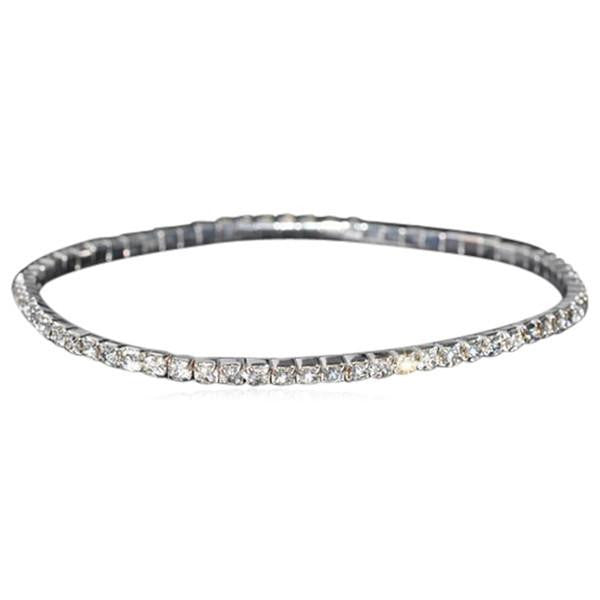 La Mia Cara Jewelry & Accessories - Macri Infinity - Crystal Gold / Silver Anklet
