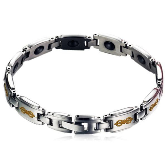 Magneto Terapia - Titanium Sport Magnets Therapy Bracelet Men & Women - LA MIA CARA JEWELRY