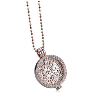 Moneta - Rhinestone Crystal Gold / Rose Gold / Silver Necklace - LA MIA CARA JEWELRY - 1