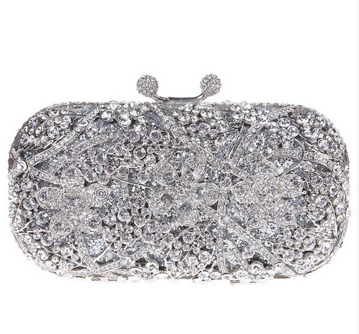 Opera - Rhinestone Crystal & Gold Evening Clutch Bag - LA MIA CARA JEWELRY - 2