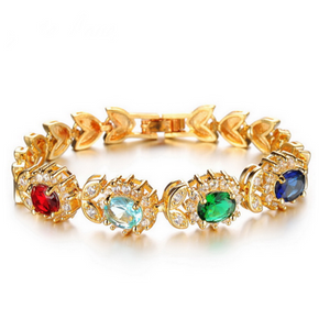 La Mia Cara Jewelry - Palmina - Multicolor Gold CZ Diamond Bracelet