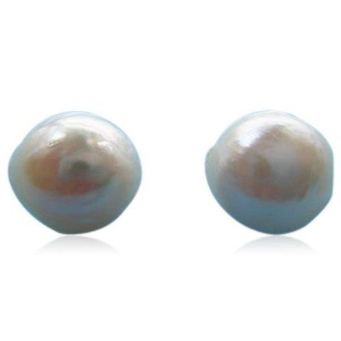 Perla Anais - Baroque Pearl Sterling Silver Stud Earrings - LA MIA CARA JEWELRY - 1