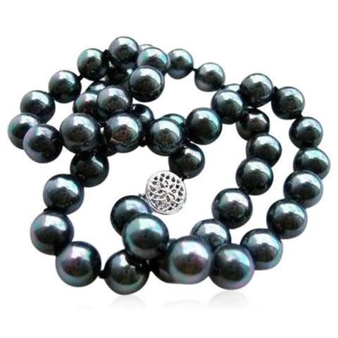 Perla Ceo - Black South Sea Shell Pearl Necklace - LA MIA CARA JEWELRY