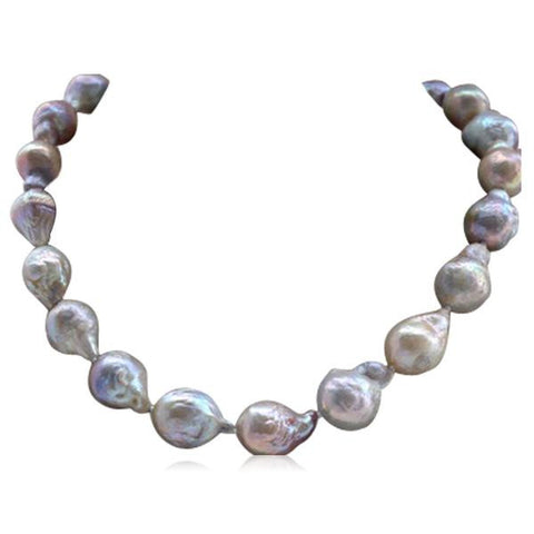 Perla Colomba - Multicolor Keshi Baroque Pearl Necklace - LA MIA CARA JEWELRY - 1