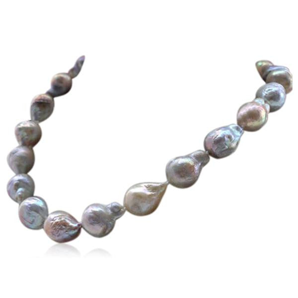 Perla Colomba - Multicolor Keshi Baroque Pearl Necklace - LA MIA CARA JEWELRY - 2
