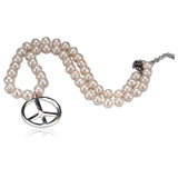 Perla Gilda - Peace Sign Natural Pearl Necklace - LA MIA CARA JEWELRY - 2