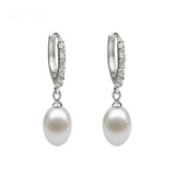 Perla Giulietta - Freshwater Pearl Sterling  Silver Stud Earrings - LA MIA CARA JEWELRY - 1