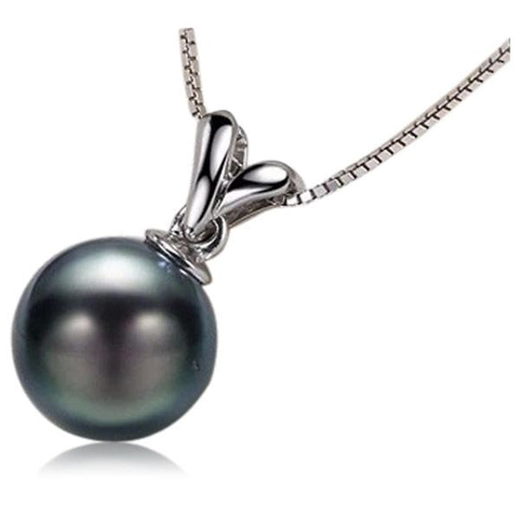 La Mia Cara Jewelry - Perla Tahiti - Black Tahitian Pearl White Gold Pendant Necklace