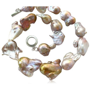 Perla Vienna - Large Keishi Baroque Water Drop Pearl White Gold Necklace - LA MIA CARA JEWELRY - 1