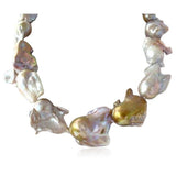 Perla Vienna - Large Keishi Baroque Water Drop Pearl White Gold Necklace - LA MIA CARA JEWELRY - 2
