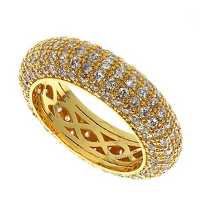 Statement Ring  - Pisa - CZ Diamond Gold Ring - La Mia Cara Jewelry