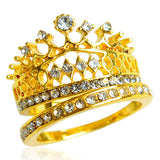 La Mia Cara Jewelry & Accessories - Principessa Coronela - Crystal Rhinestone CZ Diamond Gold / Silver Statement Ring