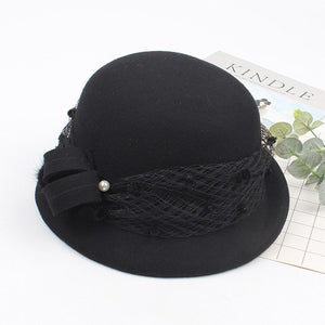 LA MIA CARA - Fedora- Elegant Wool Winter Hat For Woman