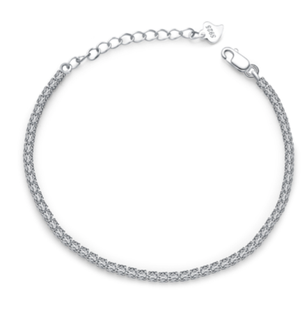 La Mia Cara Jewelry - Élégance - Cubic Zirconia Sterling Silver Anklet