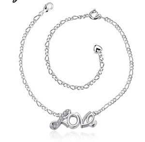 La Mia Cara Jewelry - Amore - Romantic Love Sterling Silver Anklet