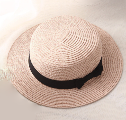 La Mia Cara - Cappelli Estate - Rose Handcrafted Female Fedora with Wide Brim Flat Top