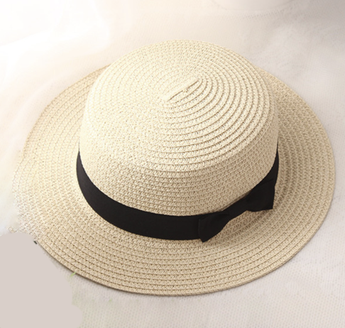 La Mia Cara - Cappelli Estate - Creme Handcrafted Female Fedora with Wide Brim Flat Top