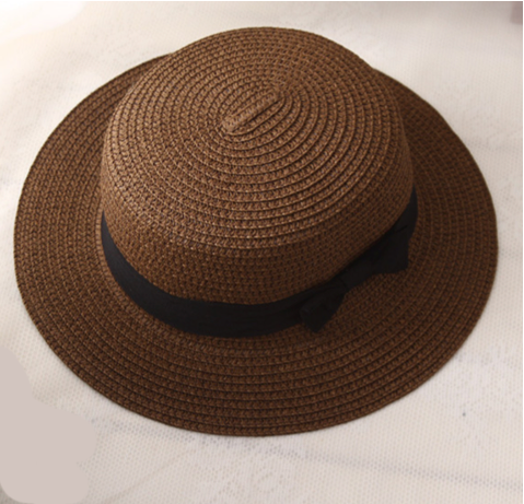 La Mia Cara - Cappelli Estate - Choco Handcrafted Female Fedora with Wide Brim Flat Top