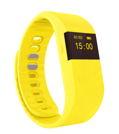 La Mia Cara Jewelry & Accessories - FUNKY YELLOW WEDOBE M5 - The Smart Health Check Wrist Watch