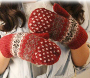 LA MIA CARA  -  Norway Red /Orange - Cashmere Female Gloves