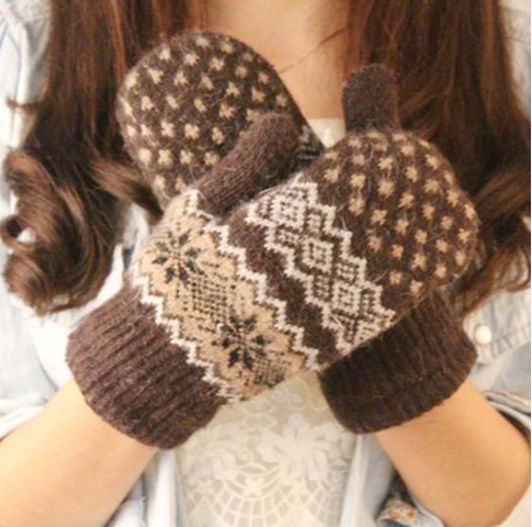 LA MIA CARA  -  Norway Coffee - Cashmere Female Gloves
