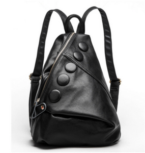 La Mia Cara  -Black Bonnie - Fashionable Genuine Leather Backpack