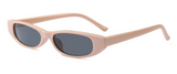 La Mia Cara - STOCKHOLM BEIGE - UNISEX 90'S RETRO THIN RECTANGLE COLOR TONE LENS SUNGLASSES