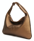 La Mia Cara - Samantha Copper - Celebrity vintage woven Faux leather hobo shoulder handbag