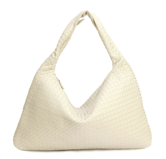 La Mia Cara - Samantha White- Celebrity vintage woven Faux leather hobo shoulder handbag