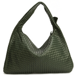 La Mia Cara - Samantha Green - Celebrity vintage woven Faux leather hobo shoulder handbag