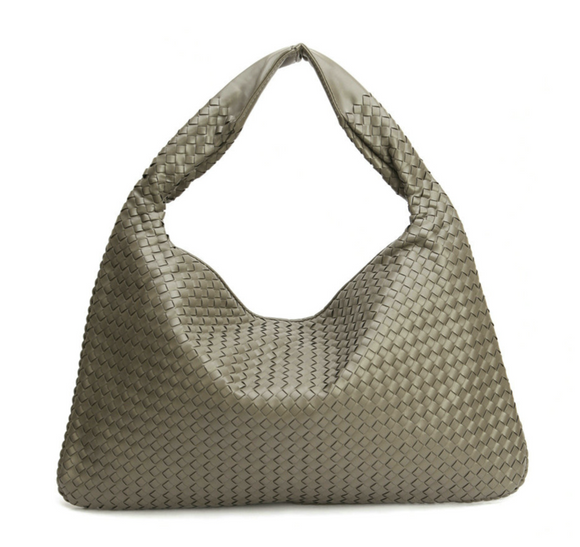 La Mia Cara - Samantha Grey- Celebrity vintage woven Faux leather hobo shoulder handbag