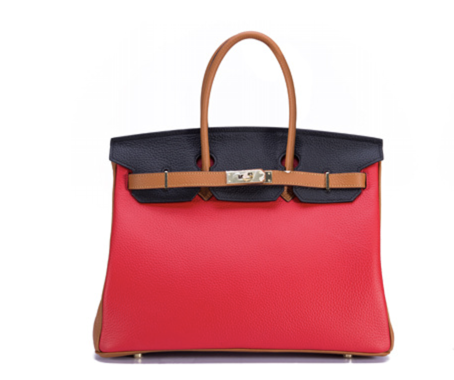 La Mia Cara - Aria - Splash of Red Genuine Leather Shoulder Bag