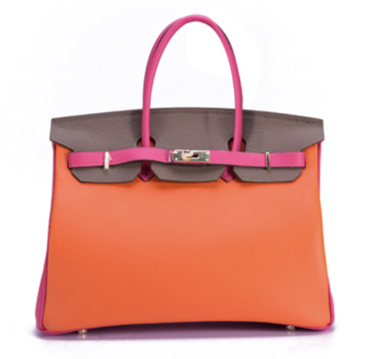 La Mia Cara - Aria - Splash of Orange Genuine Leather Shoulder Bag