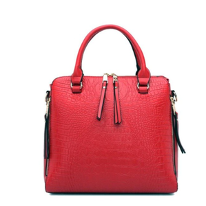 La Mia Cara - Brunilde - Leather Crocodile Fashion Design Look Vintage Bag