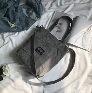 Grey  Mia - Corduroy Zipper Messenger