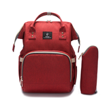 La Mia Cara  - Red MamaMia - Kits Travel Backpack with USB phone charge interface
