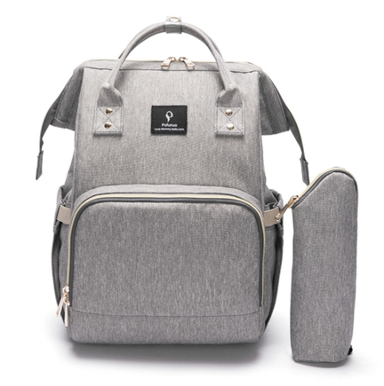 La Mia Cara  - Grey MamaMia - Kits Travel Backpack with USB phone charge interface