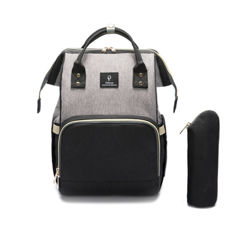 La Mia Cara  - BlackGrey MamaMia - Kits Travel Backpack with USB phone charge interface