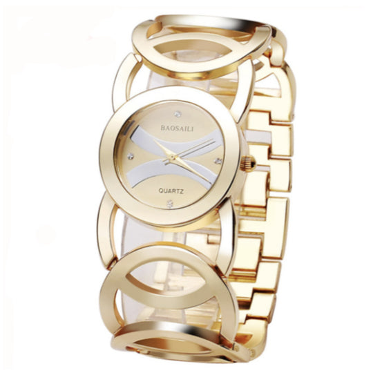 La Mia Cara Jewelry - Sciccoso Gold - Circles Strap Stainless Steel Ladies Watch