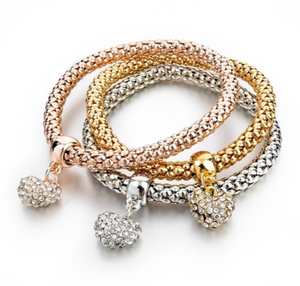 Lampeggiare M4 -  Love Crystal Gold Bracelet