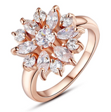 La Mia Cara Jewelry - Greta - CZ Diamond Gold Plated Ring
