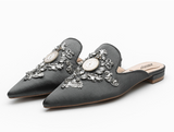 La Mia Cara Jewelry - Abelie - Satin Retro Crystal Designer Shoes